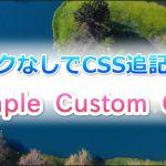 テーマ編集でCSSを直接変更しなくてもいいプラグイン『Simple Custom CSS』