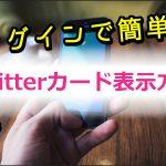 大手ニュースサイトのような大きな画像のTwitterカード表示させる方法