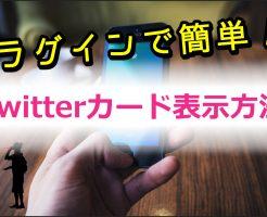 Twitterカード表示方法
